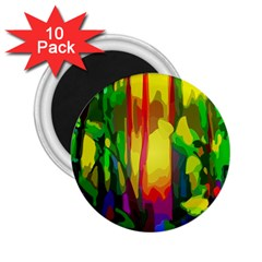 Abstract Vibrant Colour Botany 2 25  Magnets (10 Pack)  by Nexatart