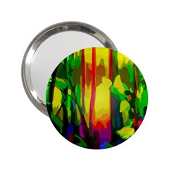 Abstract Vibrant Colour Botany 2 25  Handbag Mirrors