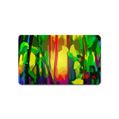 Abstract Vibrant Colour Botany Magnet (name Card) by Nexatart