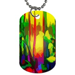 Abstract Vibrant Colour Botany Dog Tag (two Sides)