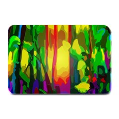 Abstract Vibrant Colour Botany Plate Mats by Nexatart