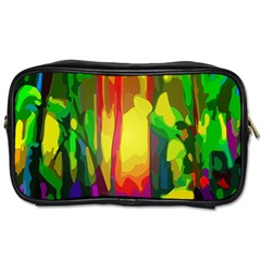 Abstract Vibrant Colour Botany Toiletries Bags 2 Side by Nexatart