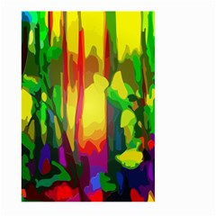 Abstract Vibrant Colour Botany Large Garden Flag (two Sides) by Nexatart