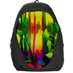 Abstract Vibrant Colour Botany Backpack Bag