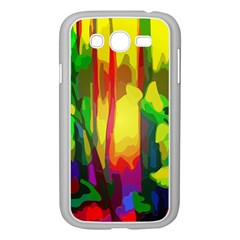 Abstract Vibrant Colour Botany Samsung Galaxy Grand Duos I9082 Case (white) by Nexatart