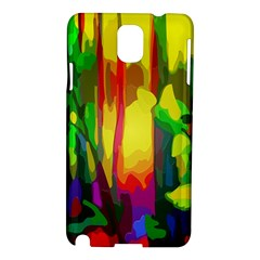 Abstract Vibrant Colour Botany Samsung Galaxy Note 3 N9005 Hardshell Case by Nexatart
