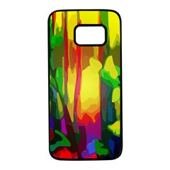 Abstract Vibrant Colour Botany Samsung Galaxy S7 Black Seamless Case by Nexatart