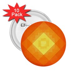 Pattern Retired Background Orange 2 25  Buttons (10 Pack)  by Nexatart