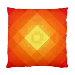 Pattern Retired Background Orange Standard Cushion Case (two Sides)