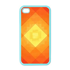Pattern Retired Background Orange Apple Iphone 4 Case (color)