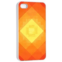 Pattern Retired Background Orange Apple Iphone 4/4s Seamless Case (white)