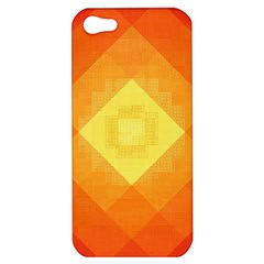 Pattern Retired Background Orange Apple Iphone 5 Hardshell Case