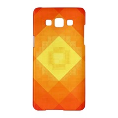Pattern Retired Background Orange Samsung Galaxy A5 Hardshell Case  by Nexatart