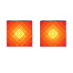 Pattern Retired Background Orange Cufflinks (square)
