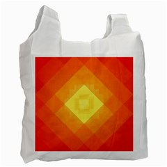 Pattern Retired Background Orange Recycle Bag (one Side) by Nexatart