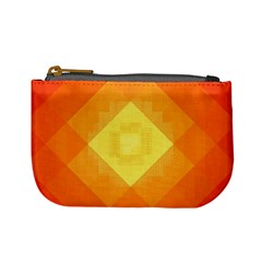 Pattern Retired Background Orange Mini Coin Purses