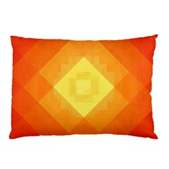 Pattern Retired Background Orange Pillow Case (two Sides) by Nexatart