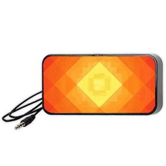 Pattern Retired Background Orange Portable Speaker (black)