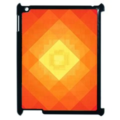 Pattern Retired Background Orange Apple Ipad 2 Case (black)