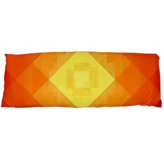 Pattern Retired Background Orange Body Pillow Case Dakimakura (two Sides)