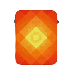 Pattern Retired Background Orange Apple Ipad 2/3/4 Protective Soft Cases