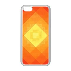 Pattern Retired Background Orange Apple Iphone 5c Seamless Case (white)