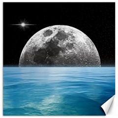 Moon Ocean Canvas 20  X 20  (unframed) by LoolyElzayat