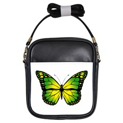Green Butterfly Girls Sling Bags by linceazul