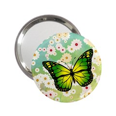 Green Butterfly 2 25  Handbag Mirrors by linceazul