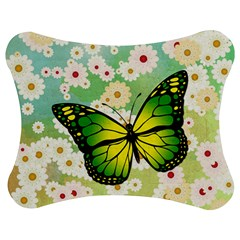 Green Butterfly Jigsaw Puzzle Photo Stand (bow) by linceazul