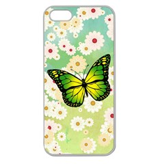 Green Butterfly Apple Seamless Iphone 5 Case (clear) by linceazul