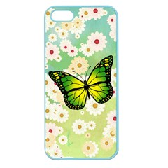 Green Butterfly Apple Seamless Iphone 5 Case (color) by linceazul