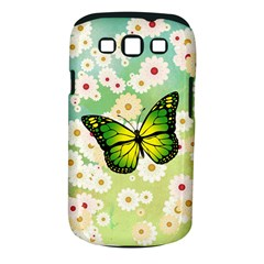 Green Butterfly Samsung Galaxy S Iii Classic Hardshell Case (pc+silicone) by linceazul