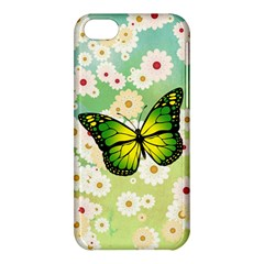 Green Butterfly Apple Iphone 5c Hardshell Case by linceazul