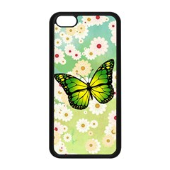 Green Butterfly Apple Iphone 5c Seamless Case (black) by linceazul