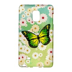 Green Butterfly Galaxy Note Edge by linceazul