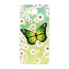 Green Butterfly Samsung Galaxy Alpha Hardshell Back Case by linceazul