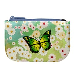 Green Butterfly Large Coin Purse by linceazul