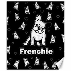 Frenchie Canvas 8  X 10  by Valentinaart