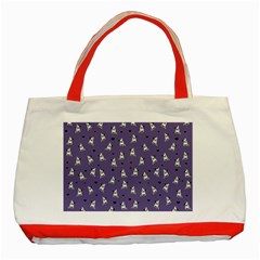 French Bulldog Classic Tote Bag (red) by Valentinaart