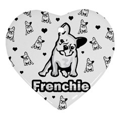 French Bulldog Heart Ornament (two Sides) by Valentinaart