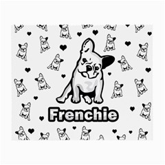 French Bulldog Small Glasses Cloth (2 Side) by Valentinaart