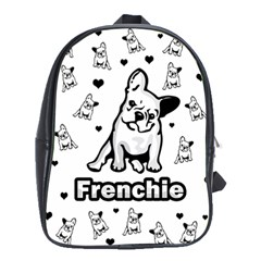 French Bulldog School Bags (xl)  by Valentinaart