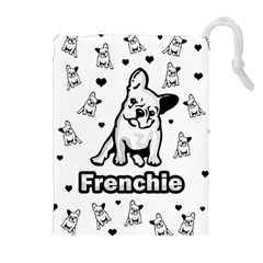French Bulldog Drawstring Pouches (extra Large) by Valentinaart