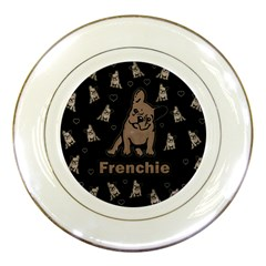 French Bulldog Porcelain Plates by Valentinaart