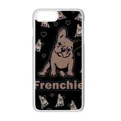 French Bulldog Apple Iphone 7 Plus White Seamless Case by Valentinaart