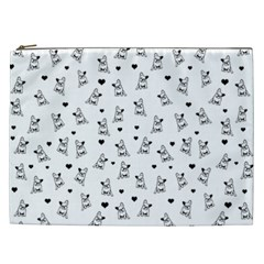 French Bulldog Cosmetic Bag (xxl)  by Valentinaart