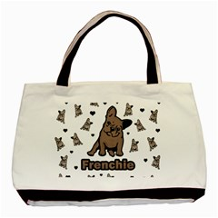 French Bulldog Basic Tote Bag by Valentinaart