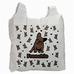 French Bulldog Recycle Bag (one Side) by Valentinaart
