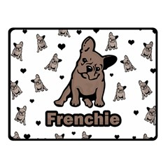 French Bulldog Double Sided Fleece Blanket (small)